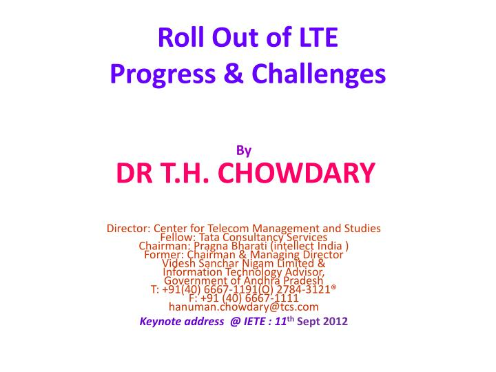roll out of lte progress challenges n.