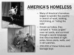 america s homeless