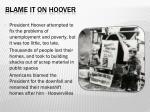 blame it on hoover
