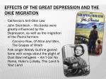 effects of the great depression and the okie migration