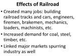 effects of railroad