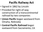 pacific railway act