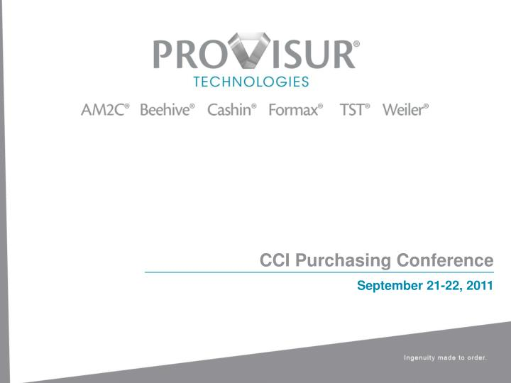 cci purchasing conference n.