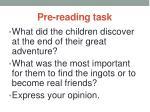 pre reading task14