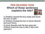 pre reading task5