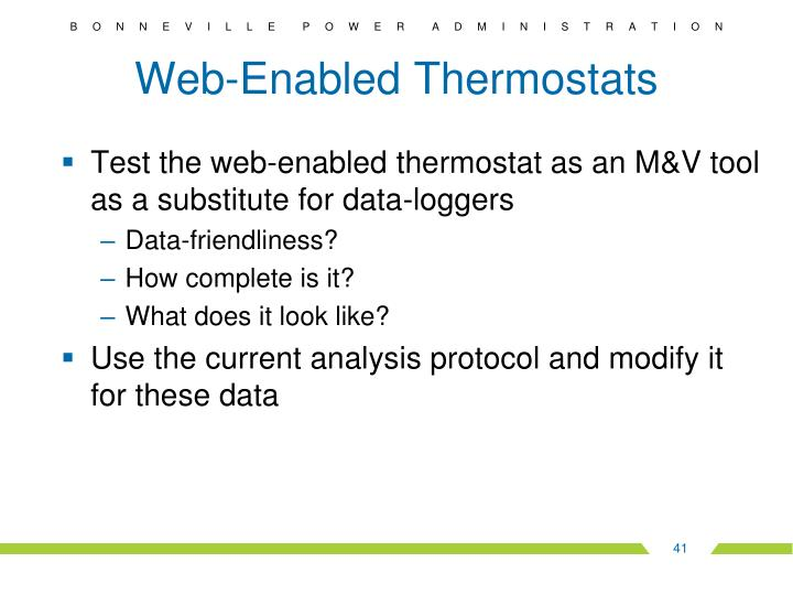 Web-Enabled Thermostats