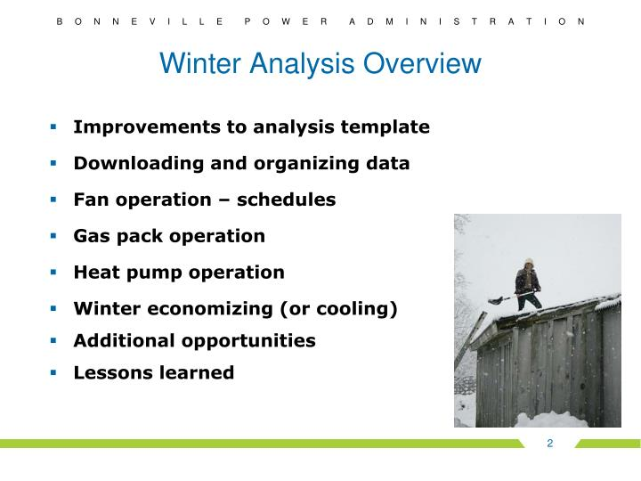 Winter analysis overview