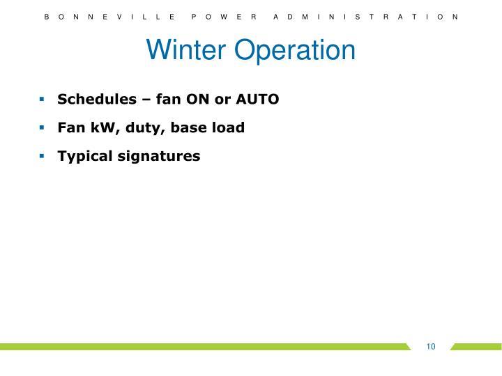 Winter Operation