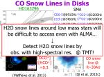 co snow lines in disks