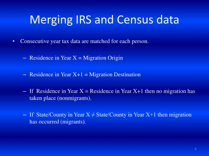 Merging IRS and Census data