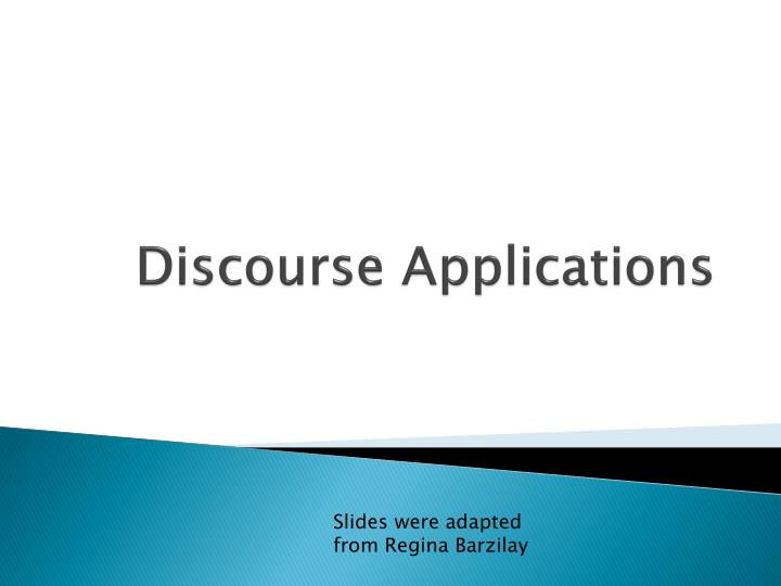 discourse applications n.