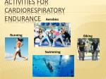 activities for cardiorespiratory endurance