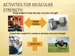 activities for muscular strength