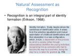 natural assessment as recognition