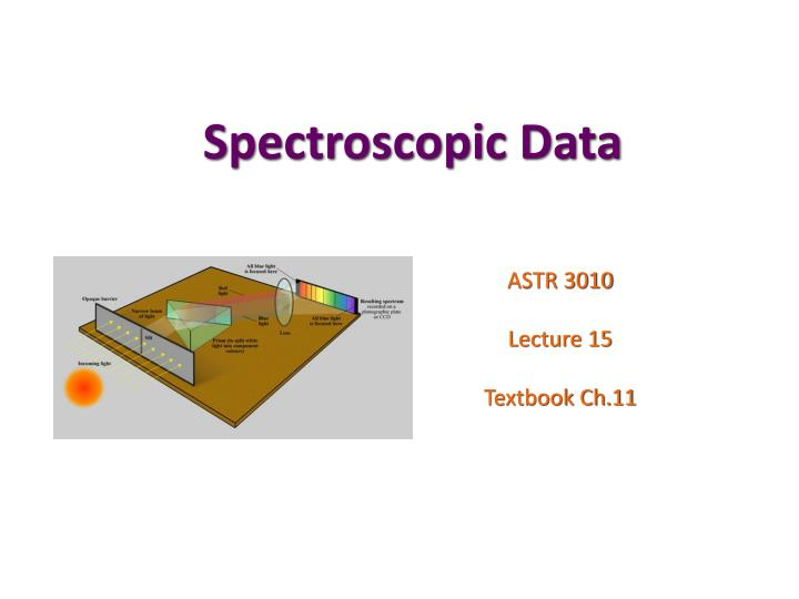 spectroscopic data n.