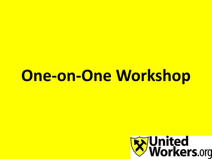 one on one workshop n.