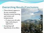 overarching results conclusions