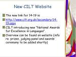 new cilt website
