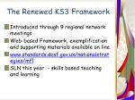 the renewed ks3 framework