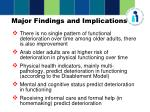 major findings and implications