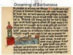 drowning of barbarossa