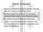 myths of saladin