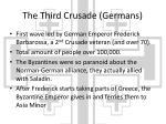 the third crusade germans