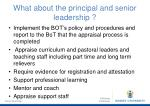 what about the principal and senior leadership