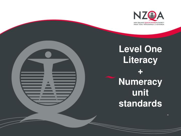 level one literacy numeracy unit standards n.