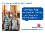 you are your site s best asset