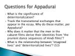 questions for appadurai
