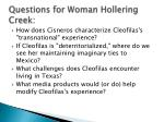 questions for woman hollering creek