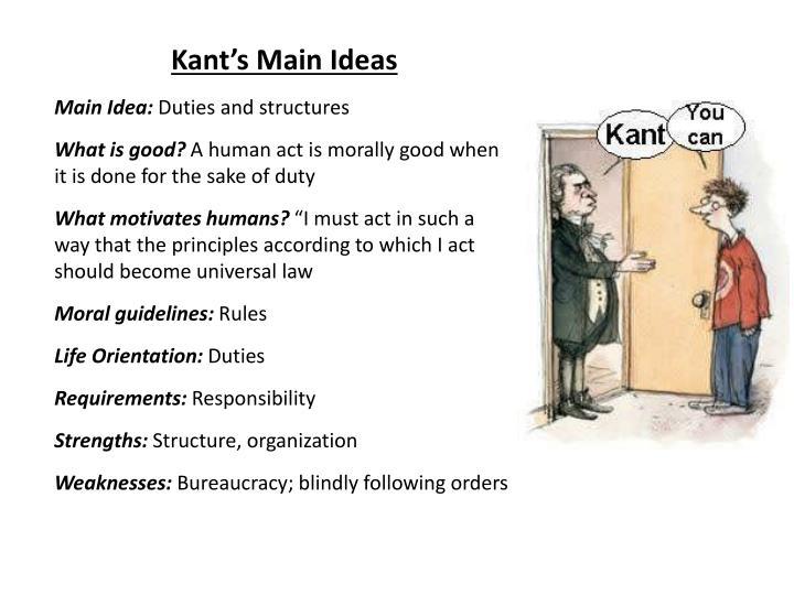 Kant's Main Ideas