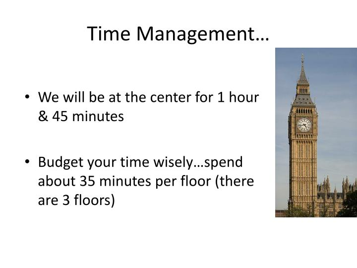 Time Management…