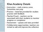khan academy details