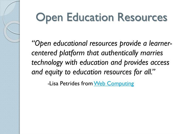 open education resources n.