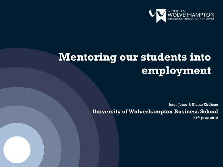 mentoring our students into employment n.