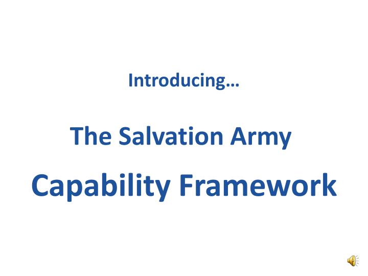 Ppt introducing the salvation army capability framework introducing the salvation army toneelgroepblik Images
