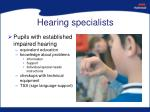 hearing specialists
