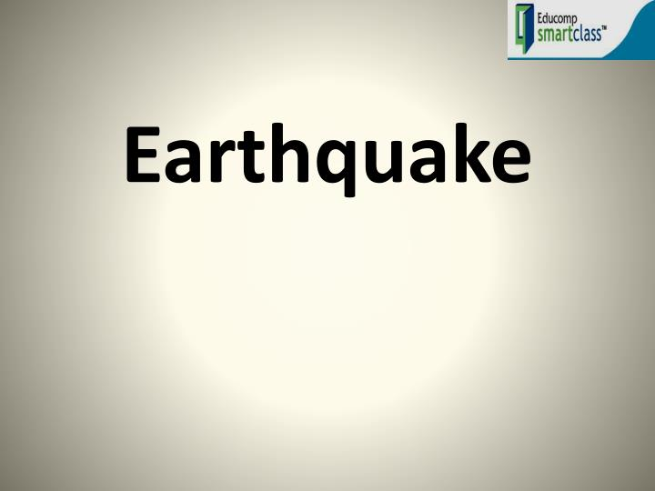 earthquake n.