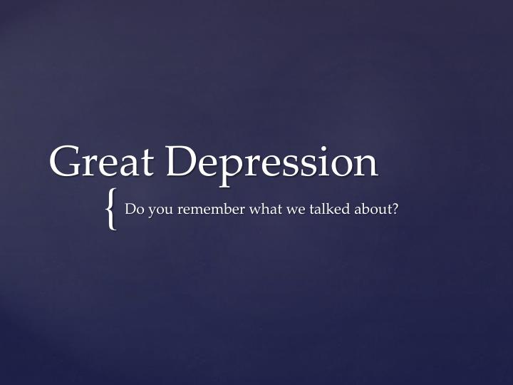 great depression n.