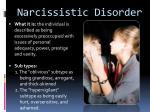 narcissistic disorder
