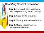 mediating conflict resolution