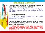 meeting conflict