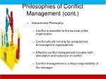 philosophies of conflict management cont