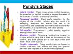 pondy s stages