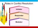 roles in conflict resolution