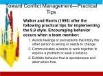 toward conflict management practical tips