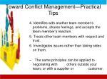 toward conflict management practical tips1