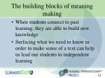 the building blocks of meaning making